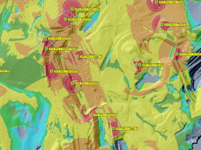 RF Survey Output Map