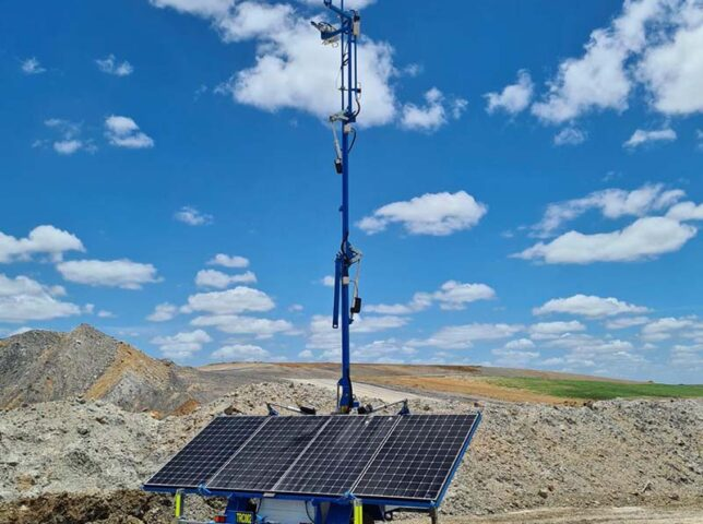 Solar communications trailer