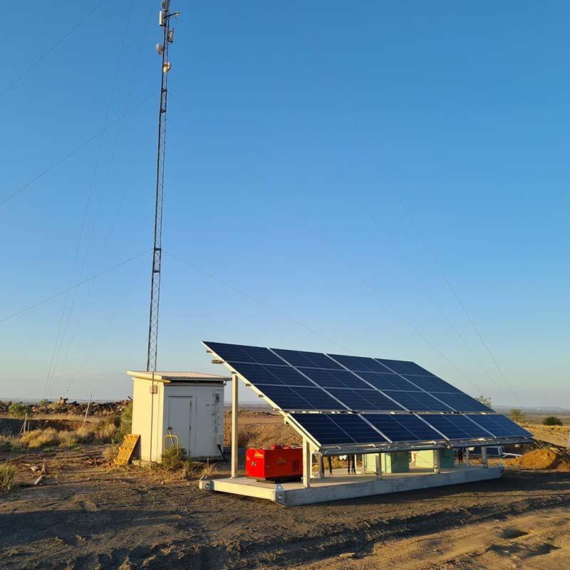 solar lithium communications skid
